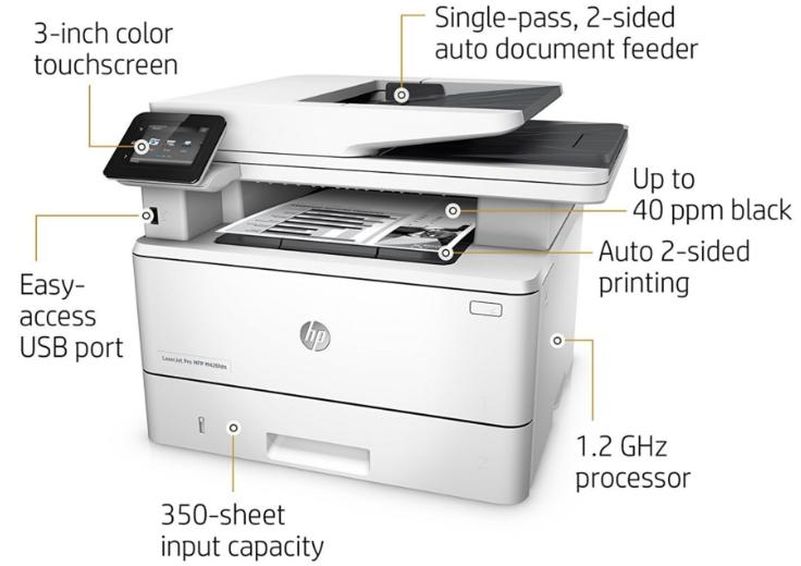 HP Laserjet Pro MFP M426fdn Specs